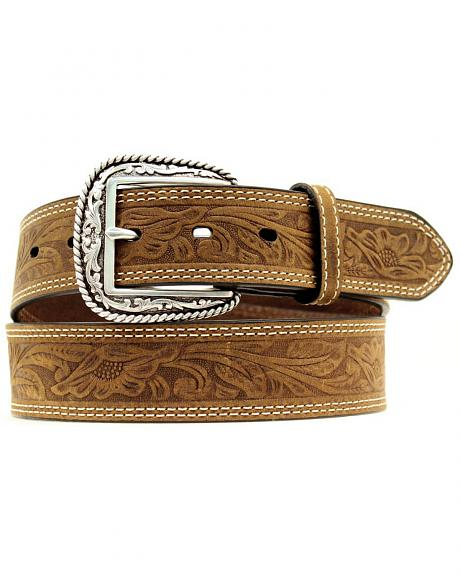 Ariat Floral Embossed Leather Belt