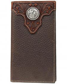 Ariat Tooled Overlay & Concho Rodeo Wallet