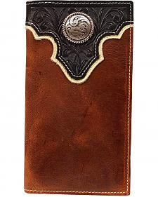 Ariat Two-Tone Tooled Overlay  & Concho Rodeo Wallet