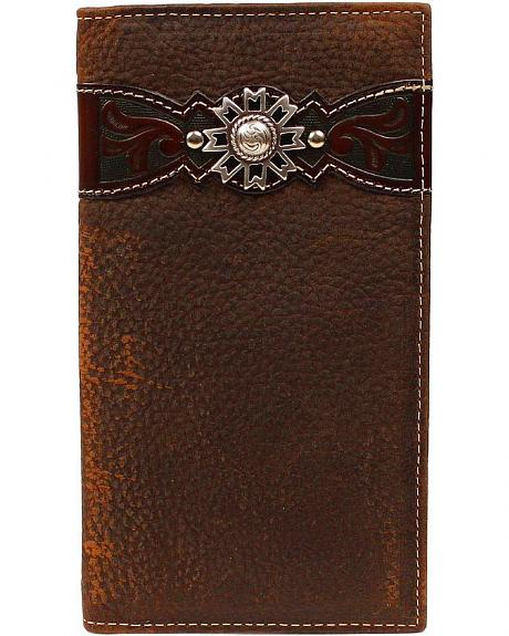 Ariat Embossed Overlay Rodeo Wallet