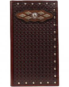 Ariat Basketweave & Concho Inlay Rodeo Wallet