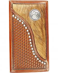 Ariat Hair-on-Hide Basketweave Rodeo Wallet