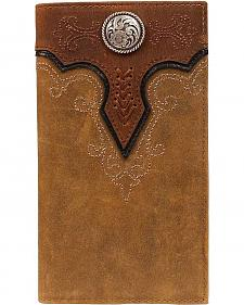 Ariat Fancy Stitched Scalloped Overlay Rodeo Wallet