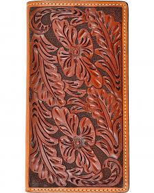 Tony Lama Hand Tooled Leather Rodeo Wallet
