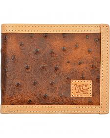 Tony Lama Ostrich Print Bi-Fold Wallet