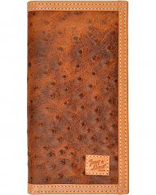 Tony Lama Ostrich Print Rodeo Wallet