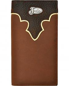 Justin Leather Overlay & Concho Rodeo Wallet