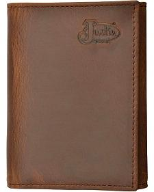 Justin Distressed Leather Tri-fold Wallet