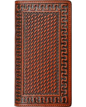 Justin Basketweave Rodeo Wallet