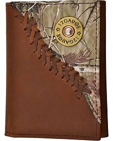 Justin Camo Overlay & Shotgun Shell Tri-fold Wallet
