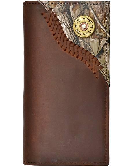 Justin Camo Overlay & Shotgun Shell Concho Rodeo Wallet