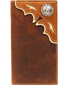 Nocona Concho Leather Overlay Rodeo Wallet