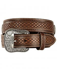 Ariat Beaded Basketweave Leather belt