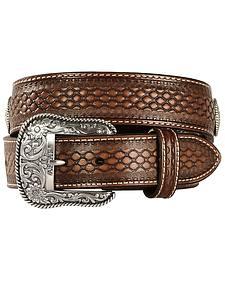 Ariat Beaded Basketweave Leather belt