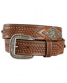 Ariat Studded Basketweave Leather Belt