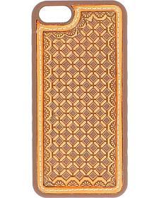 Nocona Tooled Waffle Weave Leather iPhone 5 Phone Case