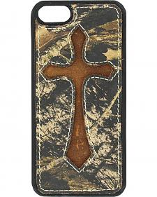 Nocona Mossy Oak Cross Leather iPhone 5 Phone Case
