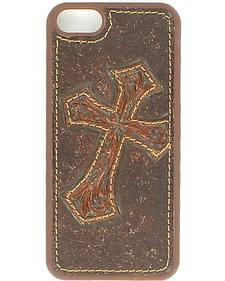 Nocona Diagonal Cross Leather iPhone 5 Phone Case