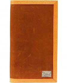 Nocona Two-Tone Leather Trim Rodeo Wallet