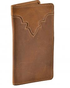 Silver Creek Classic Leather Checkbook