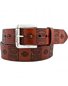 Jack Daniel's Old No. 7 Embossed Label Leather Belt