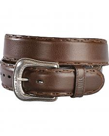 Jack Daniel's Brown Leather Laced Edge Western Belt