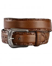 Jack Daniel's Whiskey Leather Laced Edge Western Belt
