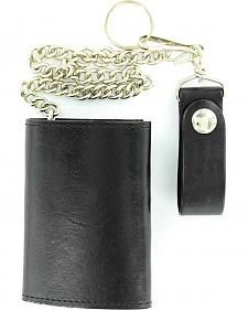 Tri-Fold Trucker Wallet with Chain