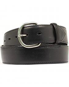 Black Leather Money Compartment Belt