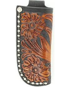 Nocona Floral Tooled Knife Sheath