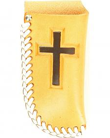 Nocona Leather Laced Cross Knife Sheath