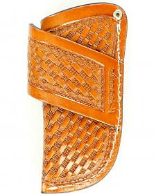 Nocona Basketweave Horizontal Knife Sheath