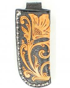 Nocona Floral Tooled Small Knife Sheath