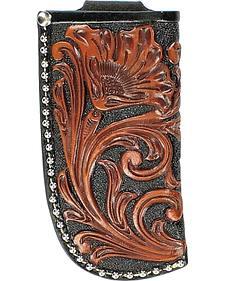 Nocona Floral Tooled Large Knife Sheath