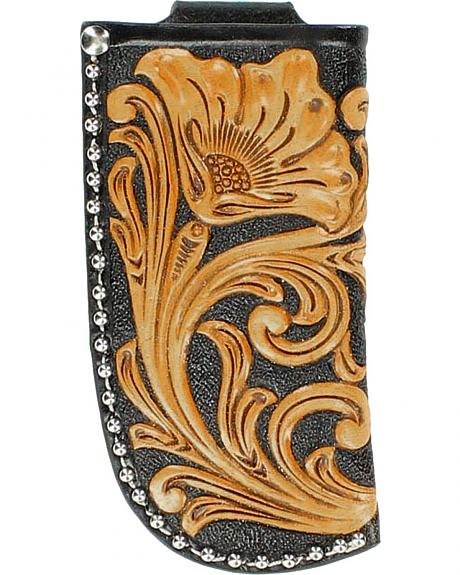 Nocona Floral Tooled Large Knife Sheath