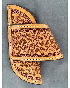 Nocona Saddle Stamped Large Horizontal Knife Sheath