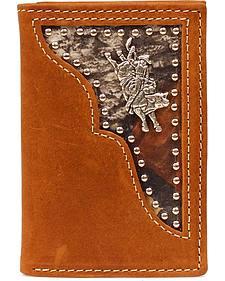 PBR Camo Inlay Bull Rider Concho Tri-fold Wallet