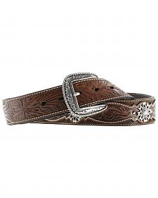 Ariat West Rowel Concho Tooled Belt