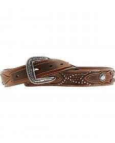 Ariat Sidewinder Basketweave Concho Belt