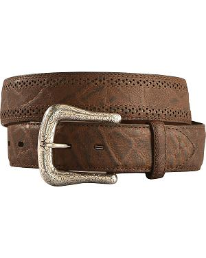 Ariat Elephant Print Leather Belt