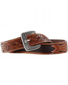 Ariat Woodrow Cedar Tooled Billets Belt