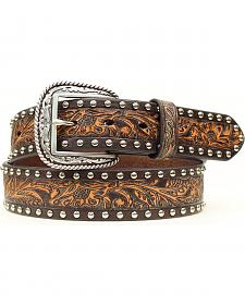 Ariat Studded & Tooled Leather Belt
