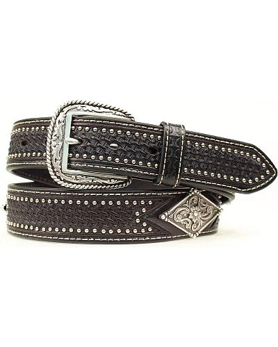 Ariat Basketweave Diamond Concho Belt Western & Country A1013601