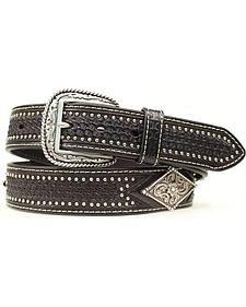 Ariat Basketweave Diamond Concho Belt
