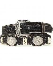 Ariat Scalloped Basketweave & Concho Belt