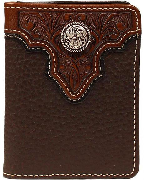 Ariat Tooled Overlay Concho Bi-fold Wallet