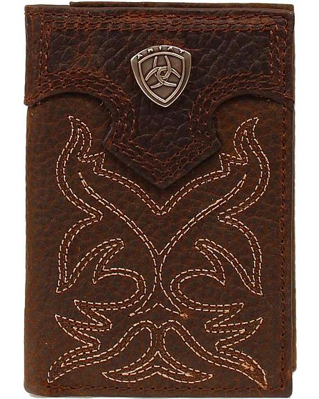 Ariat Boot Stitched Tri-fold Wallet