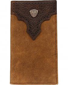 Ariat Logo Concho Overlay Rodeo Wallet