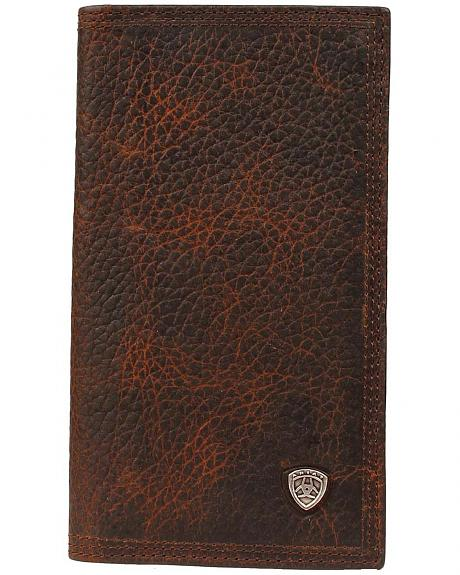 Ariat Logo Concho Brown Leather Rodeo Wallet
