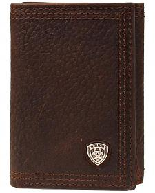 Ariat Logo Concho Tri-fold Wallet